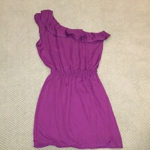 Max studio size medium purple one shoulder dress